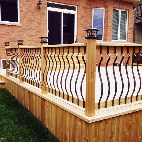 Vertical Wood Boards Deck Skirting Design Inspiration