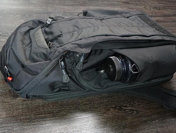 Vertx Edc Gamut Plus Backpack Side Strech Pouch For Water Bottle