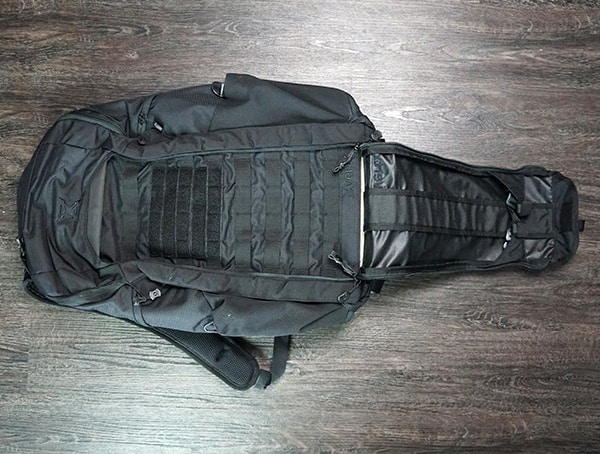 Vertx Edc Gamut Plus Backpacks Front Compartment Opened Up