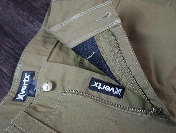 Vertx Hyde Pants Zipper And Button Closure