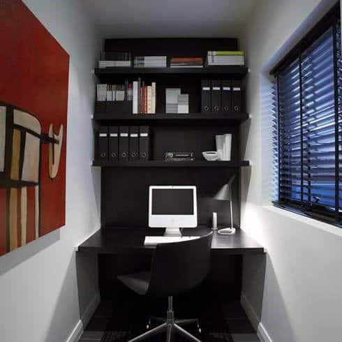 75 small home office ideas for men masculine interior for Home office design ideas for men