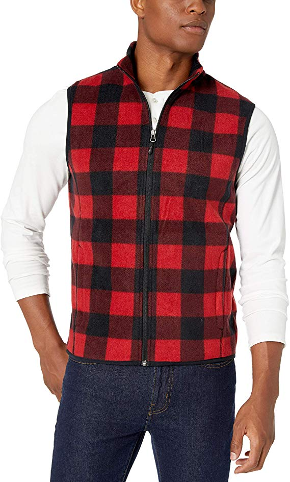 men's full-zip polar fleece vest