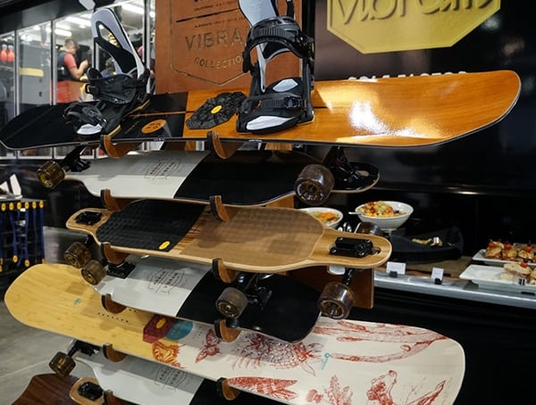 Vibram Snowboards And Skateboards Display