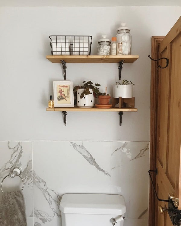 Victorian Home Bathroom Wooden Shelf Numbertwentytwosomerset