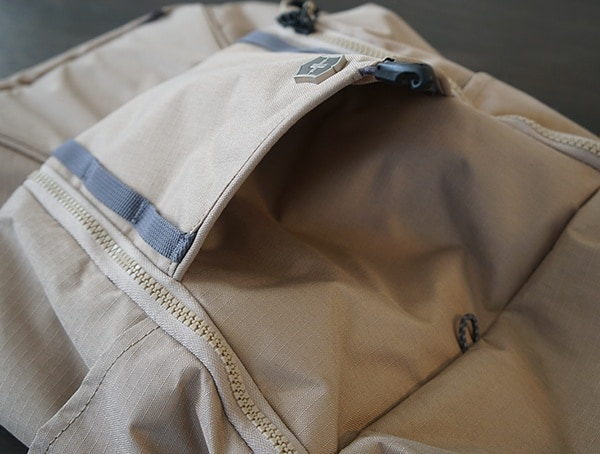 Victorinox Deluxe Rolltop Backpack Front Compartment Open