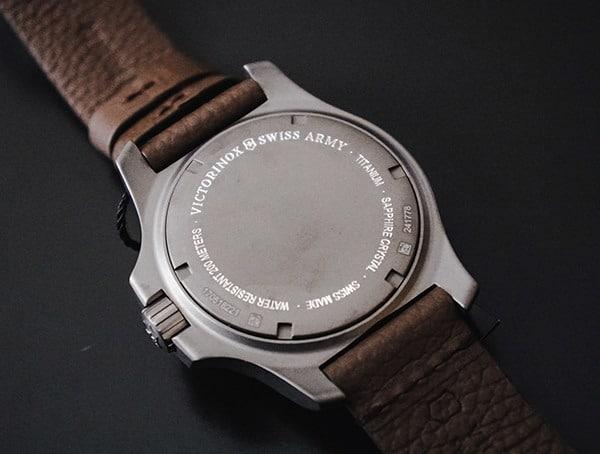 Victorinox Inox Watch Back Titanium