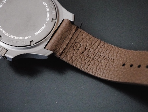 Victorinox Inox Watch Leather Strap Back Detail