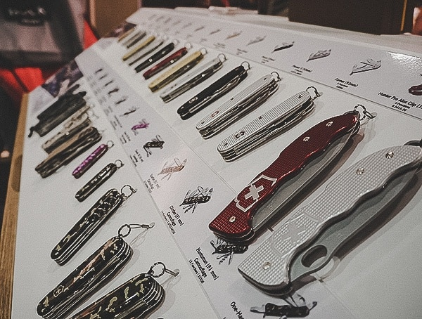Victorinox Pocket Knives Display