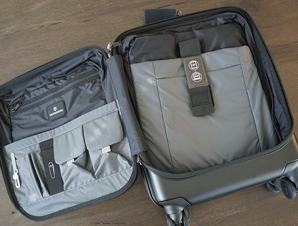Victorinox Spectra 2 0 Dual Access Global Carry On Electronics And Misc Storage Pockets