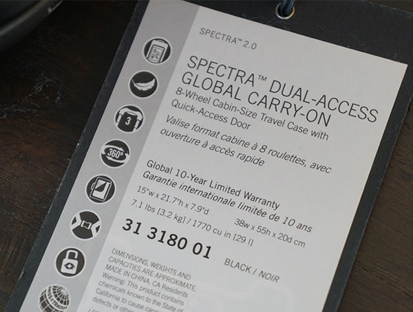 Victorinox Spectra 2 0 Dual Access Global Carry On Features And Specs Tag