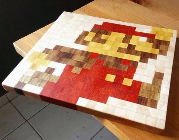 Video Game Themed Wood Block Art Diy Man Cave Ideas
