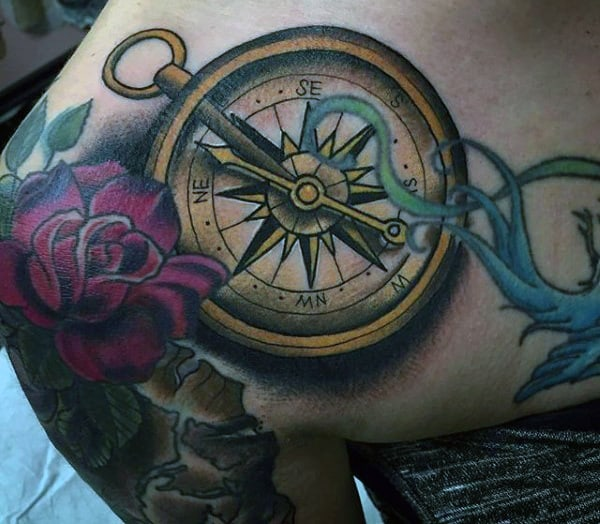 Viking Compass Tattoo For Men
