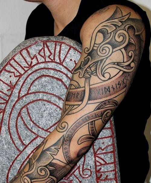 Viking Cross Men's Tattoos