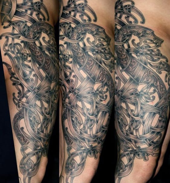 Viking God Men's Tattoos