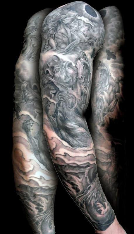 Viking Head Tattoo For Men