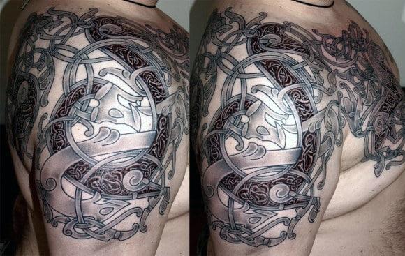 Viking Longship Tattoo For Men