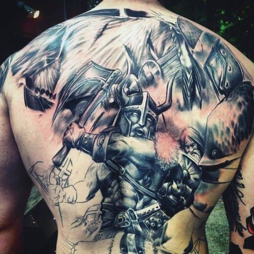 Viking Norse Tattoo Designs For Men On Back