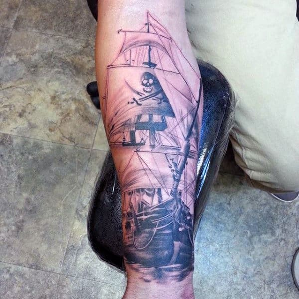 fddedc5a4 70 Ship Tattoo Ideas For Men - A Sea Of Sailor Designs
