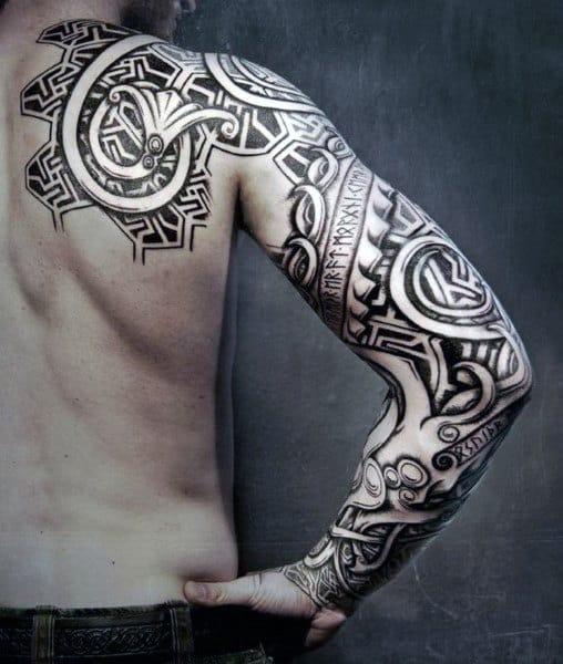 Viking Symbols Tattoo For Men