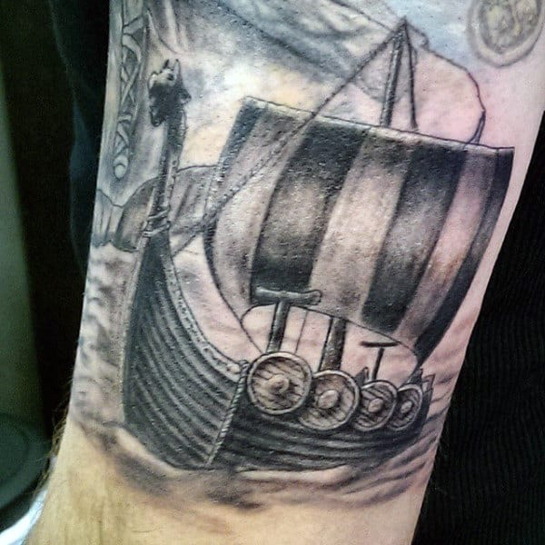 Viking Tattoos Designs For Men Of War Ship