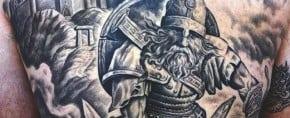 70 Viking Tattoos For Men – Manly Germanic Norse Seafarer Designs