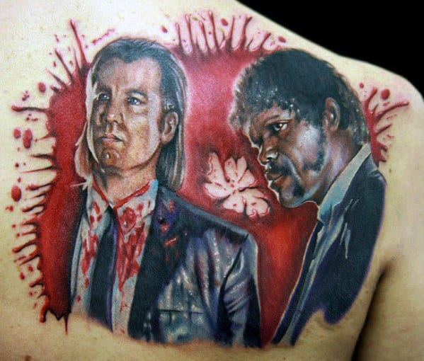 Vincent Vega And Jules Winnfield Mens Pulp Fiction Shoulder Tattoo