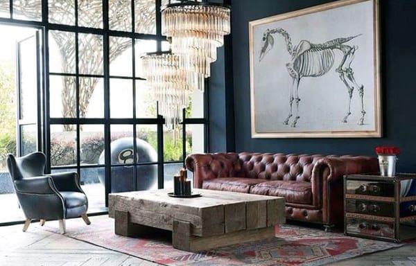 Vintage Bachelor Pad Living Room Ideas