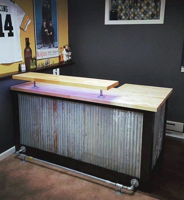 Vintage Bar Basement Man Cave Ideas