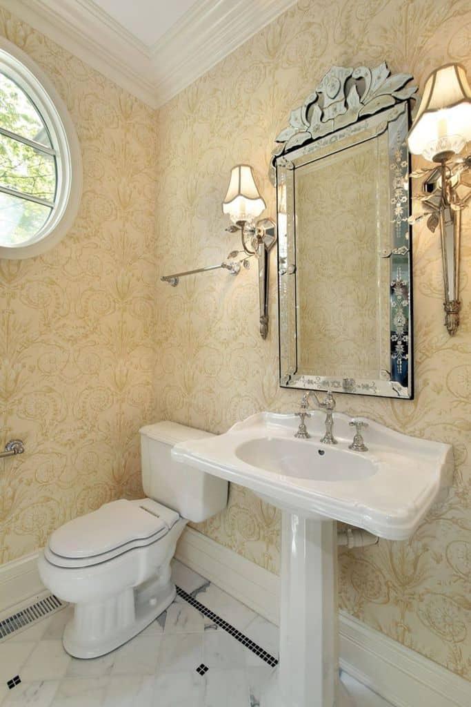 Vintage Bathroom Wallpaper Ideas 1
