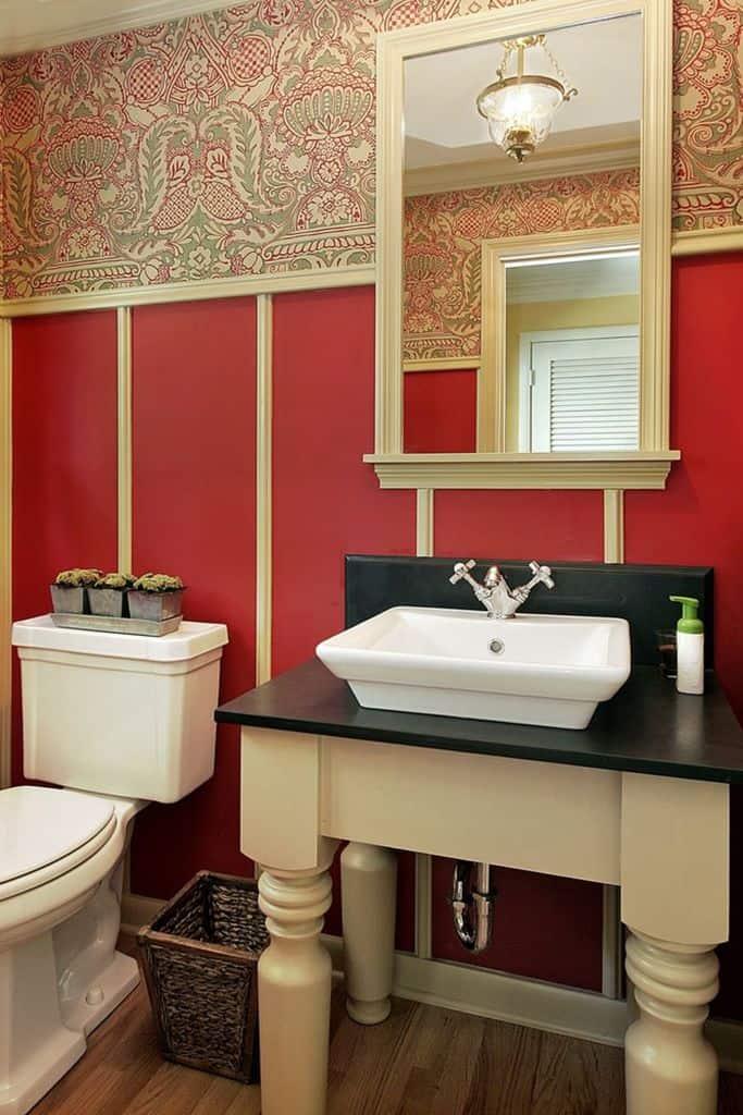 Vintage Bathroom Wallpaper Ideas 2