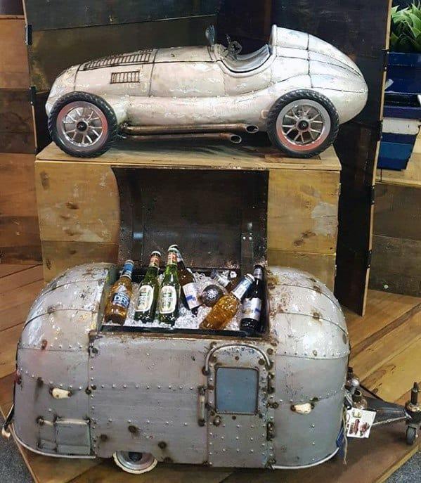 Vintage Beer Cart Guys Bachelor Pad Decor Designs