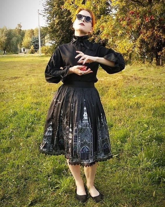 Vintage Black Dress Victorian Style