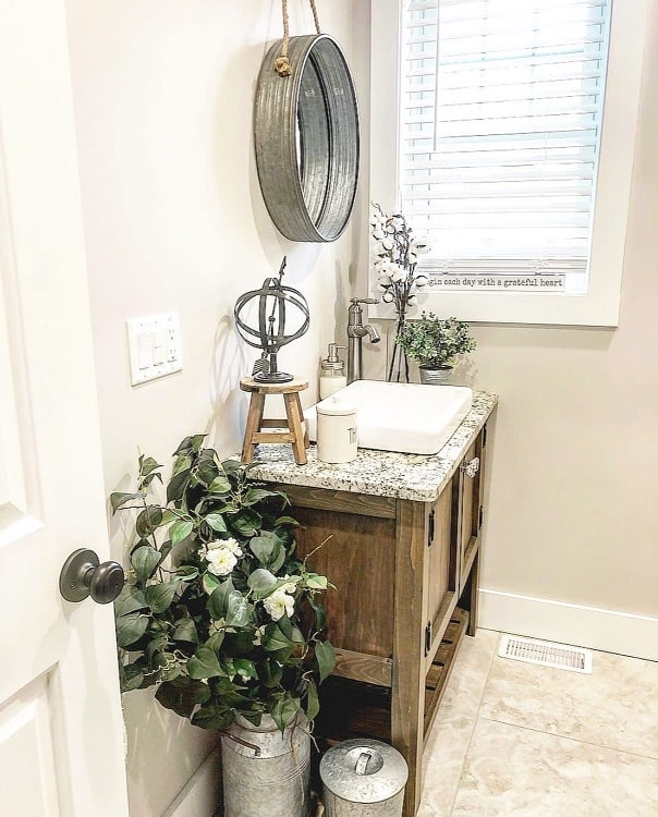Vintage Farmhouse Bathroom Vanity Partiesdecorandmore
