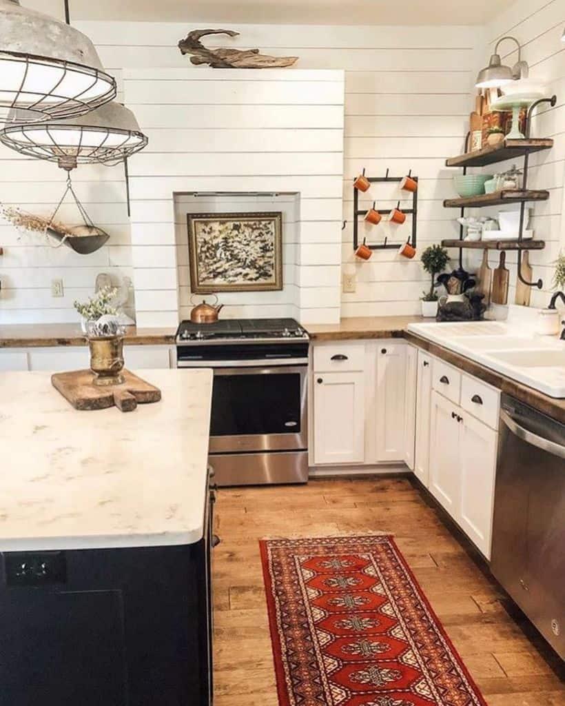 vintage farmhouse kitchen ideas chippyvintagehippie