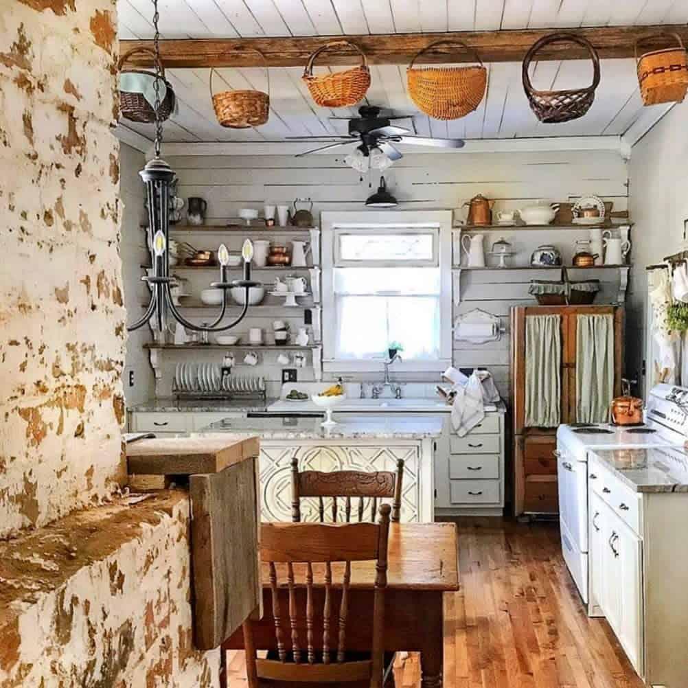 vintage farmhouse kitchen ideas halfwaytoheavenhomestead