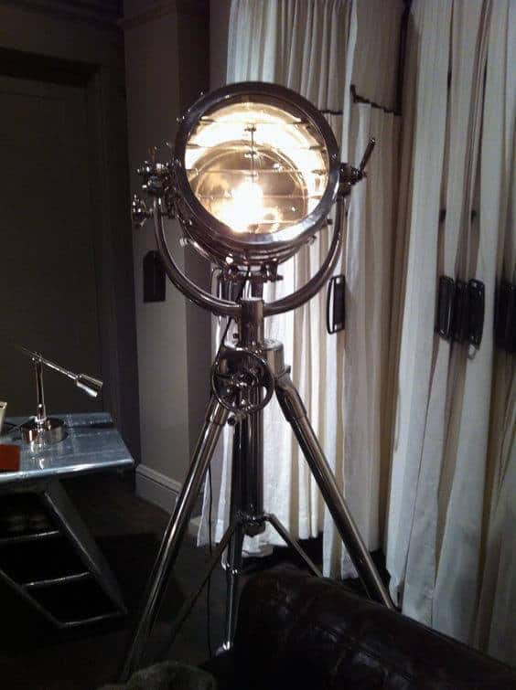 Vintage Floor Lamp Man Cave Decor