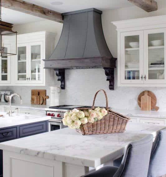 Vintage Grey Kitchen Hood Design Ideas