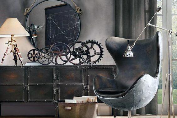 Vintage Industrial Gears Man Cave Decor Ideas