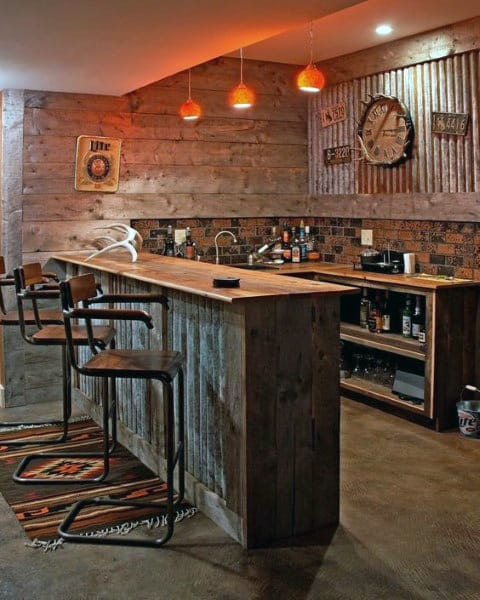 Vintage Industrial Look Garage Bar