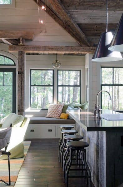Vintage Kitchen Track Lighting Design Idea Inspiration