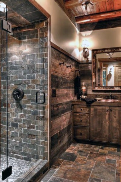 Vintage Look Rustic Bathroom Ideas