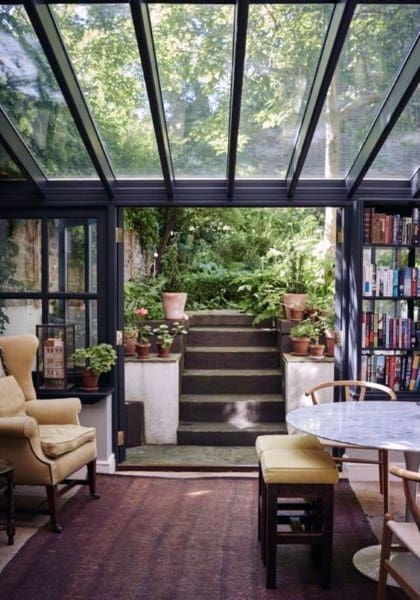 Vintage Luxury Glass Ceiling Sunroom Ideas