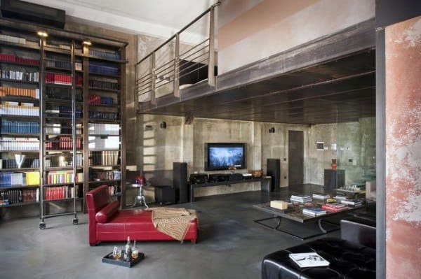 Vintage Manly Bachelor Pad Loft Ideas