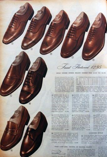 Vintage Mens 1950s Dress Shoe Fashion Catalog