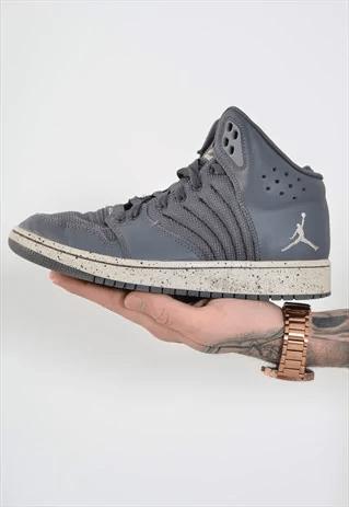 vintage nike air jordan high top trainers grey