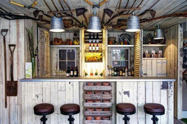 Vintage Pub Shed Bar Ideas