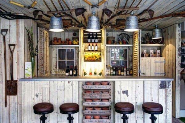 Vintage Pub Shed Bar Ideas