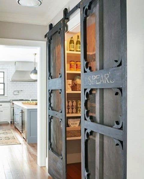 Pantry Cabinet Door Ideas: Top 40 Best Kitchen Pantry Door Ideas