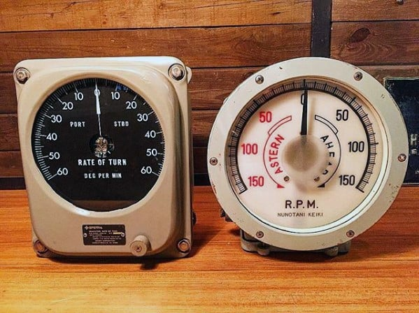 Vintage Retro Pilot Gauges Mens Bachelor Pad Decor Ideas