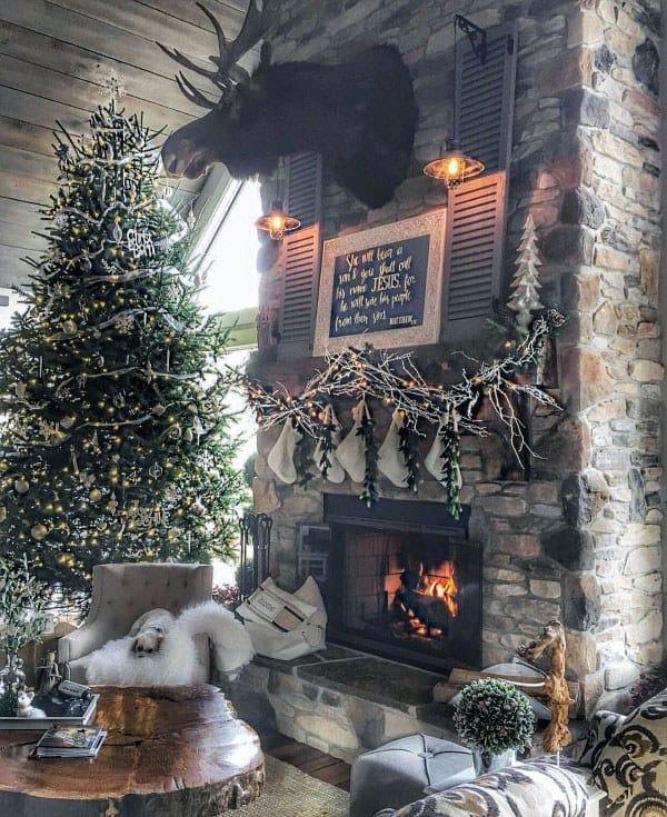 Vintage Stone Fireplace Design Ideas